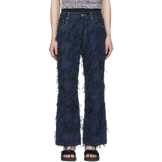 Image of Chin Mens Blue Tassel Jeans