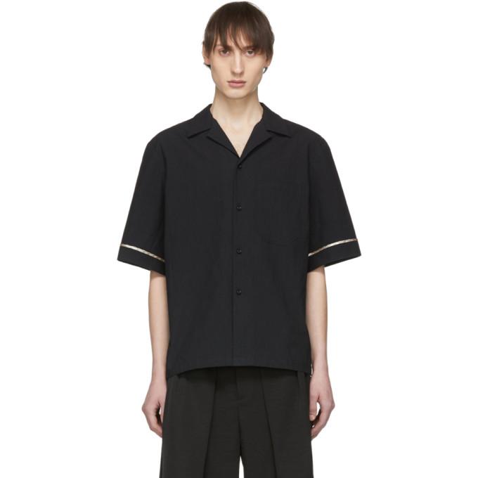 Image of Chin Mens Black Half Lined Shirt