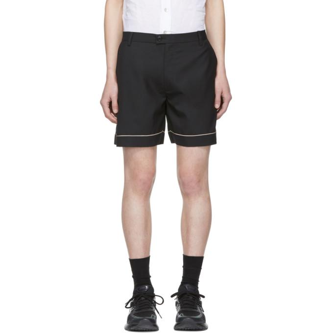Image of Chin Mens Black Piping Shorts
