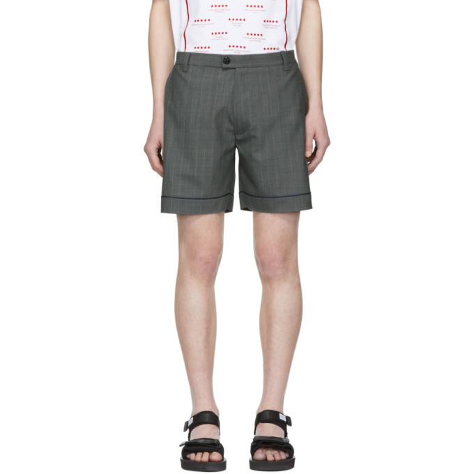 Chin Mens Short a passepoil gris