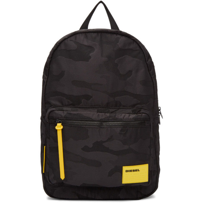 Image of Diesel Black Camo F-Discover Backpack