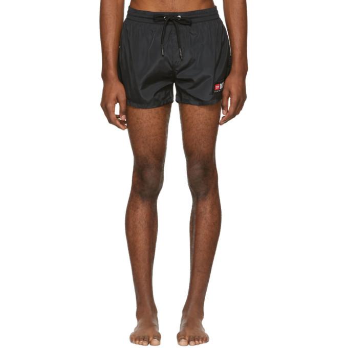 Image of Diesel Black BMBX-Sandy Logo Swim Shorts
