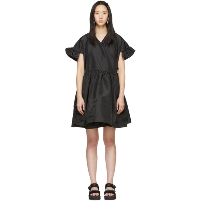 Image of Cecilie Bahnsen Black Mini Prisca Dress