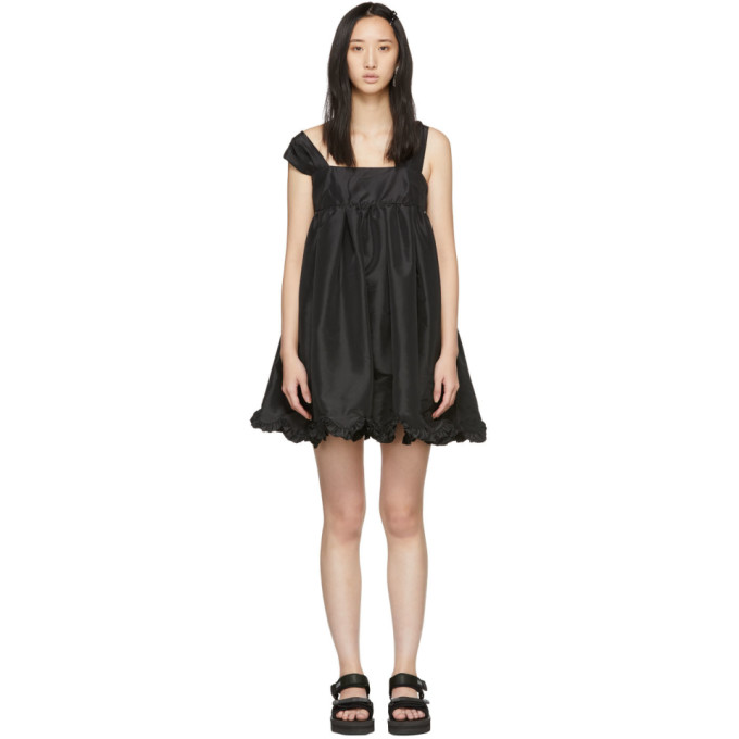 Image of Cecilie Bahnsen Black Mini Pil Dress