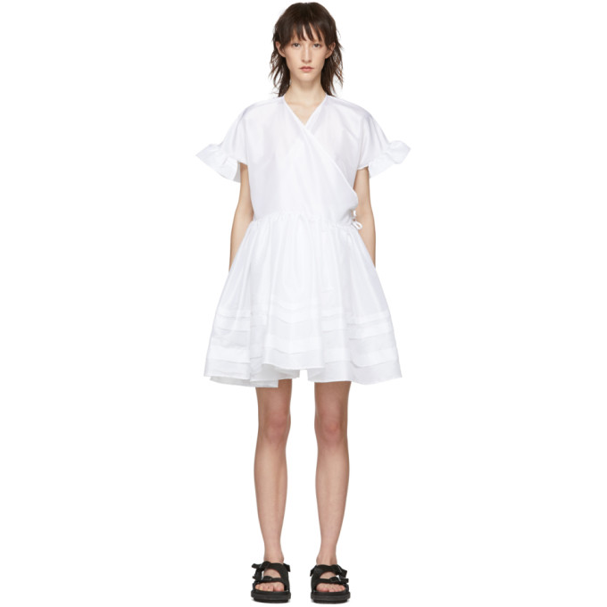 Image of Cecilie Bahnsen White Mini Prisca Dress