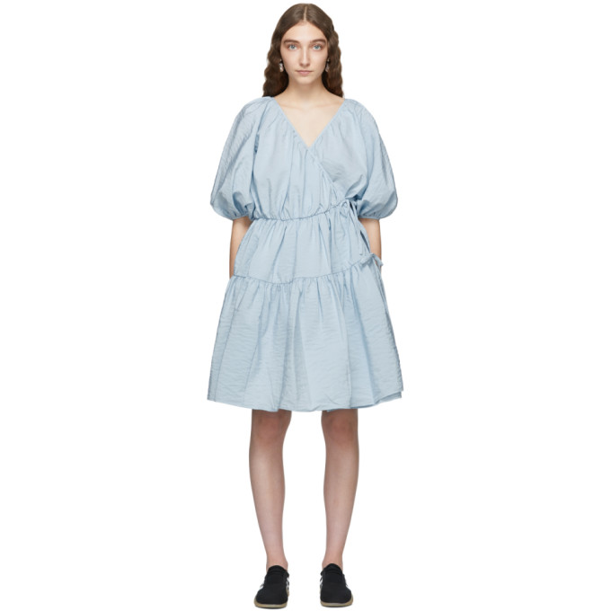 Image of Cecilie Bahnsen Blue Susannah Dress