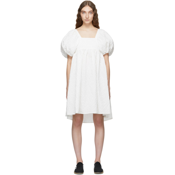 Image of Cecilie Bahnsen White Ragnhild Dress