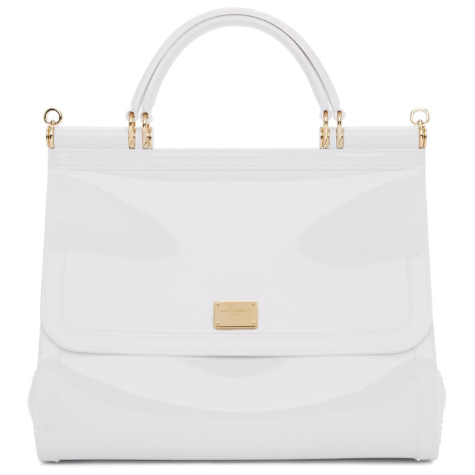 best loved 26460 67928 Dolce and Gabbana White PVC Miss Sicily Bag