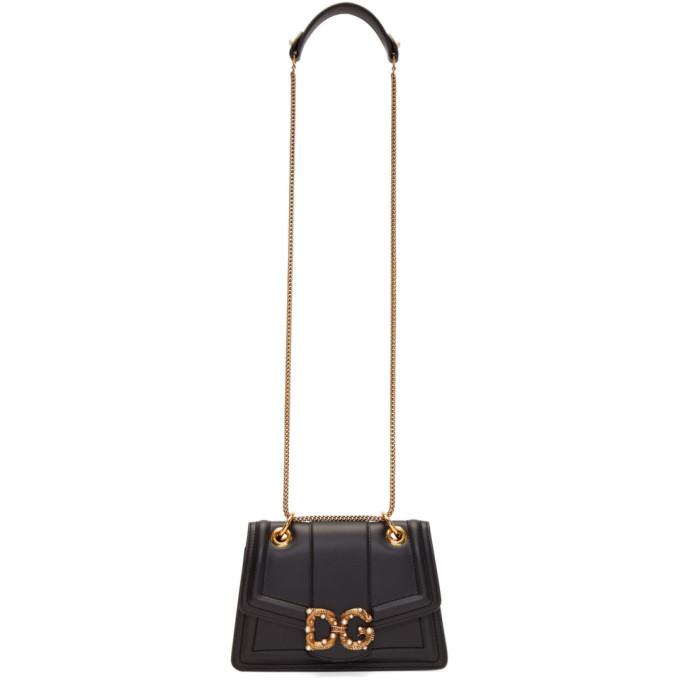 Image of Dolce & Gabbana Black Amore Envelope Bag