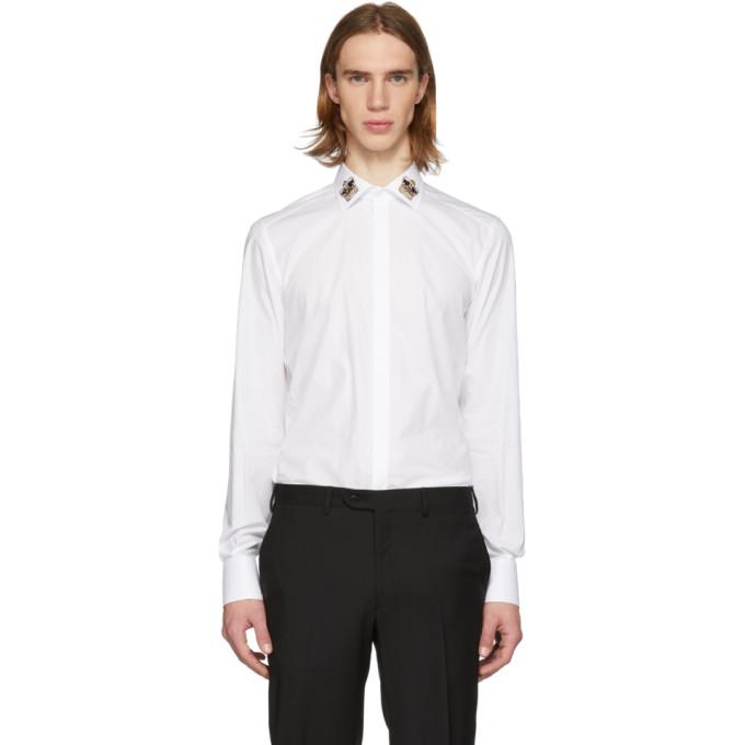 Dolce & Gabbana ホワイト クラウン マティーニ フィット シャツ