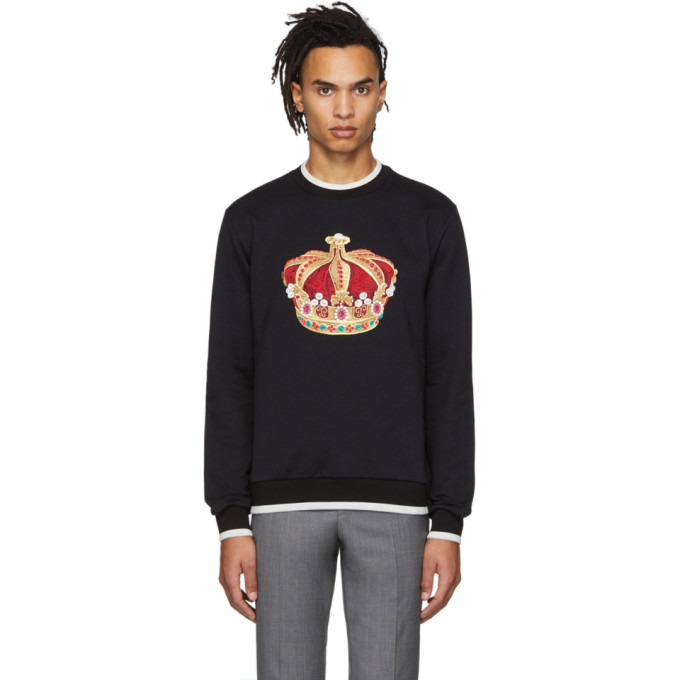 Image of Dolce & Gabbana Black Big Crown Sweatshirt
