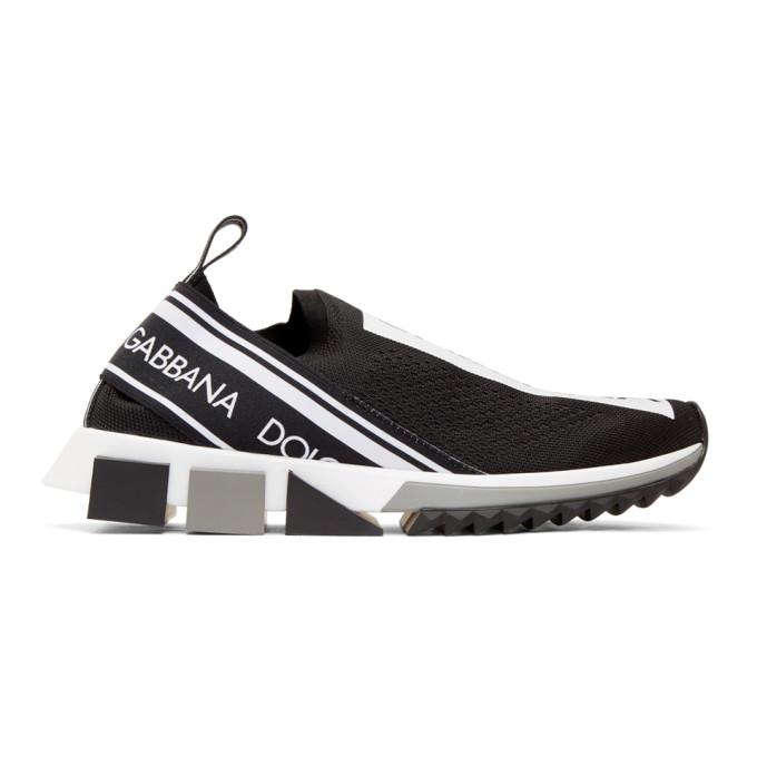 Image of Dolce & Gabbana Black Branded Sorrento Sneakers