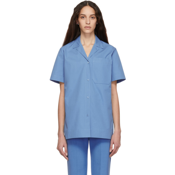 Kwaidan Editions Chemise en popeline bleue Uniform