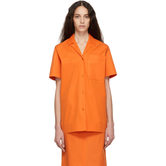 Kwaidan Editions Chemise en popeline orange Uniform