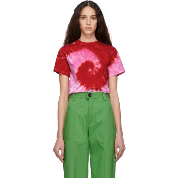 KWAIDAN EDITIONS Kwaidan Editions Ssense Exclusive Pink Tie-Dye T-Shirt in Pink/Red