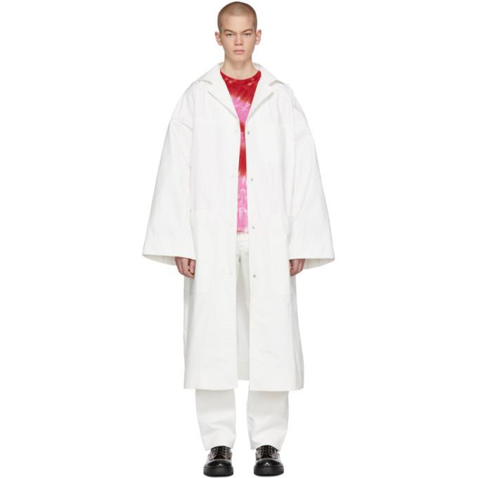 KWAIDAN EDITIONS Kwaidan Editions Ssense Exclusive White Oversized Lab Coat