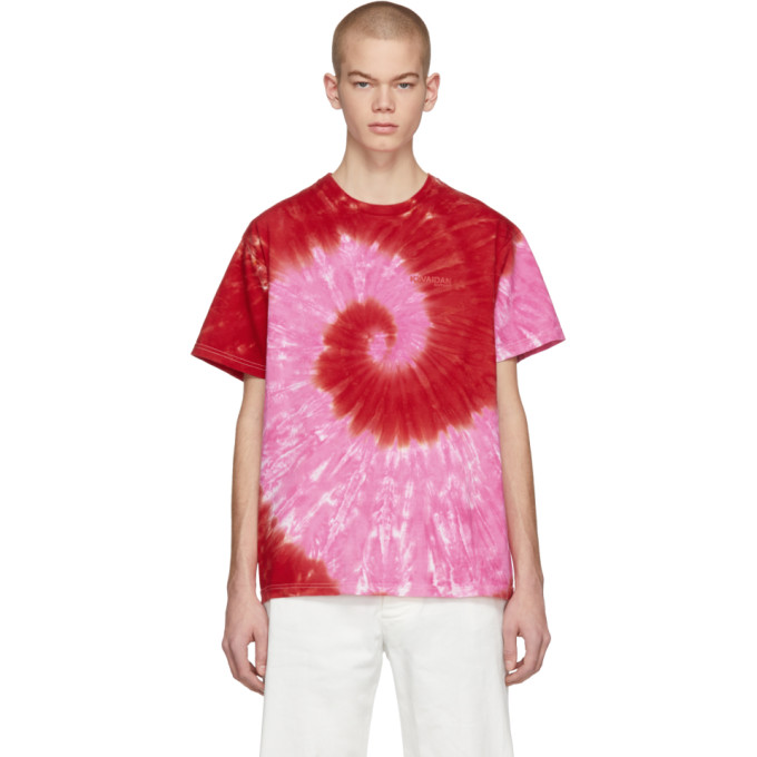 KWAIDAN EDITIONS Kwaidan Editions Ssense Exclusive Pink And Red Tie-Dye T-Shirt in Pink/Red