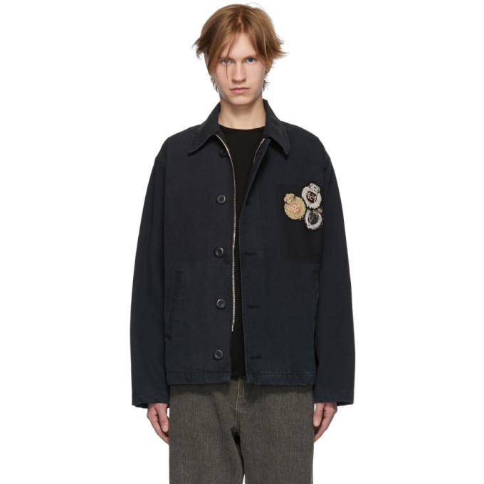 Image of 424 Black Canvas Deck Jacket