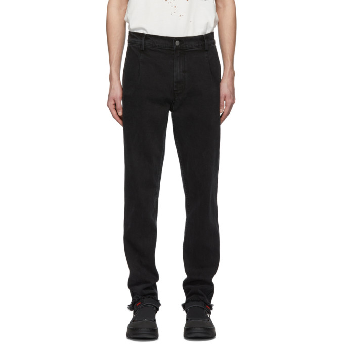424 Black Cropped Jeans