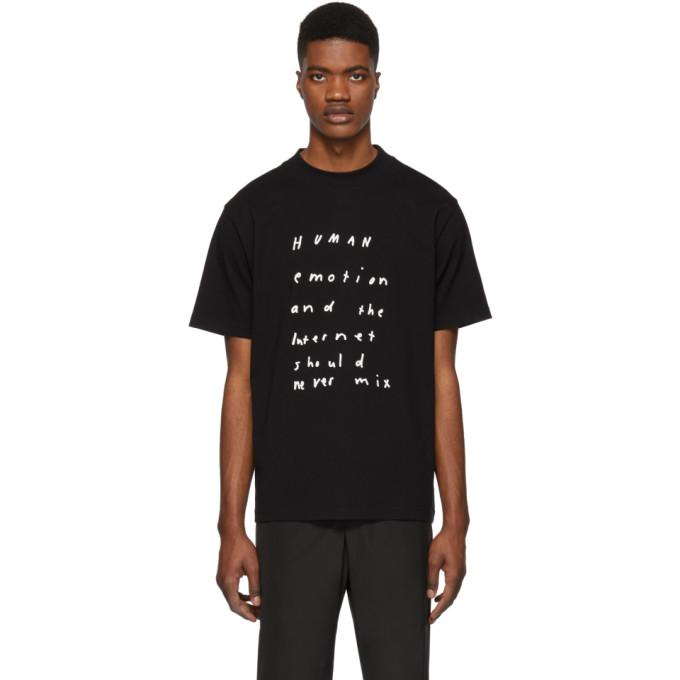 Image of 424 Black 'Human Emotion' T-Shirt