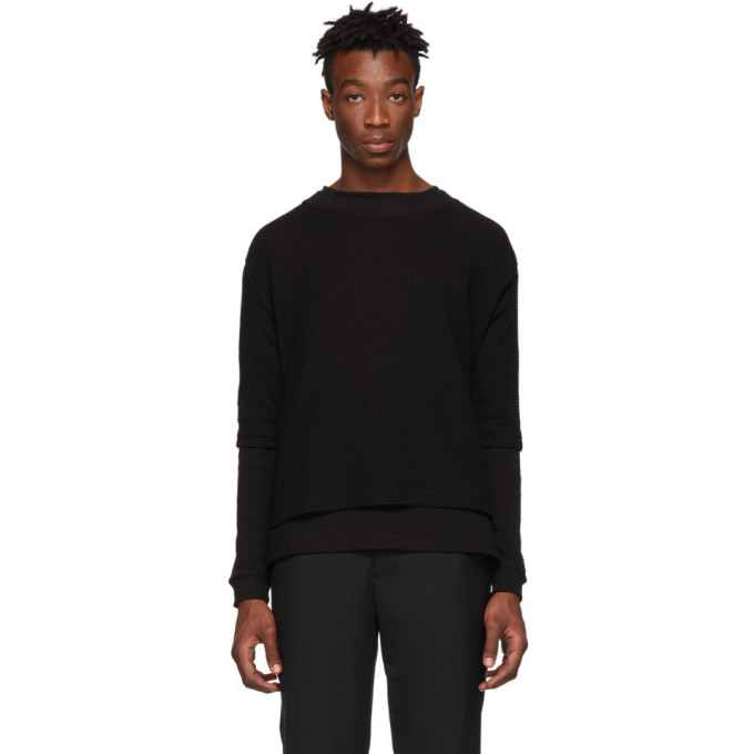 424 Black Double Layer T Shirt