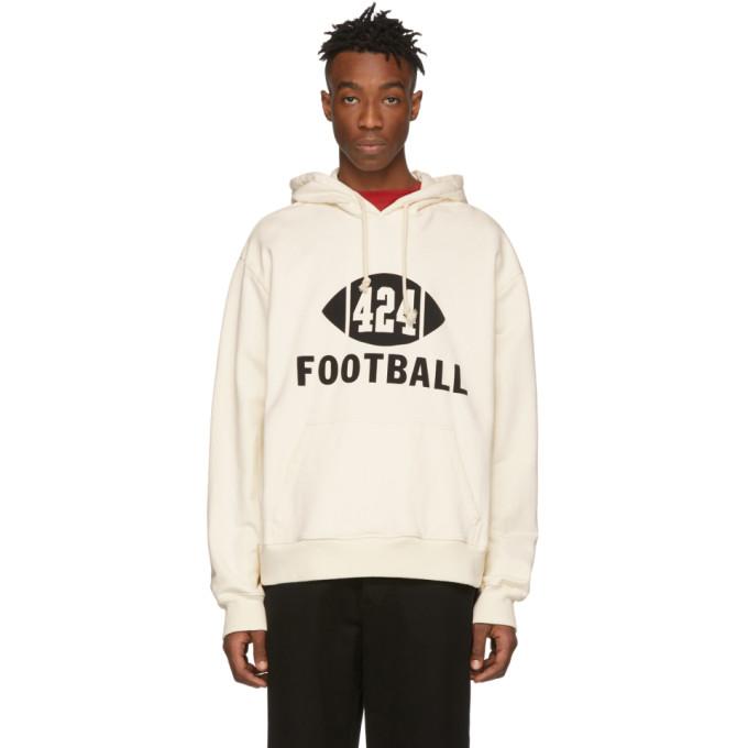 424 Pull a capuche blanc casse Football
