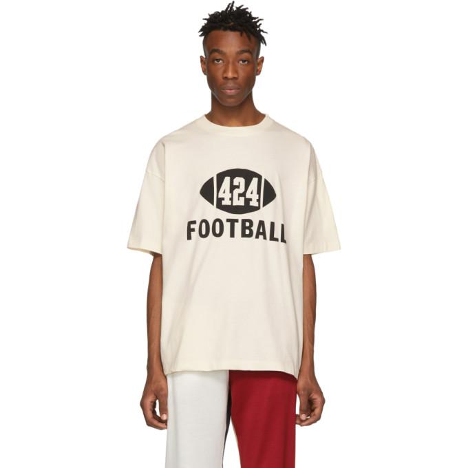 424 T-shirt blanc casse Football