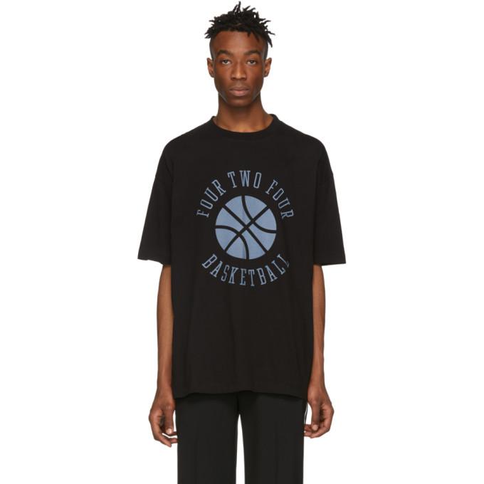 424 T-shirt noir Basketball