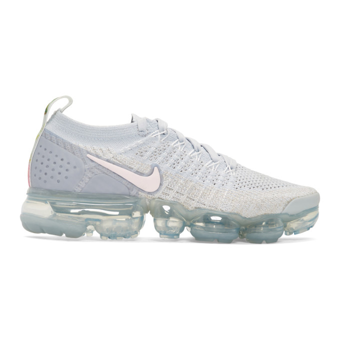 Women'S Air Vapormax Flyknit 2 Running Shoes, White in 011 Wht/Pin