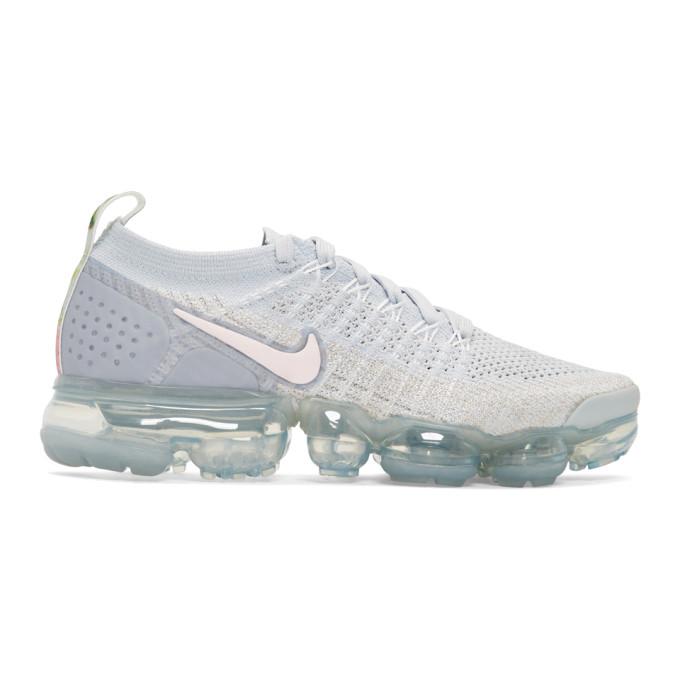 NIKE Women'S Air Vapormax Flyknit 2 Running Shoes, White in 011 Wht/Pin