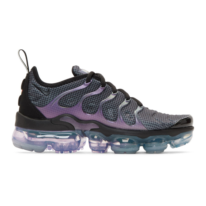 Nike Black and Purple Air Vapormax Plus