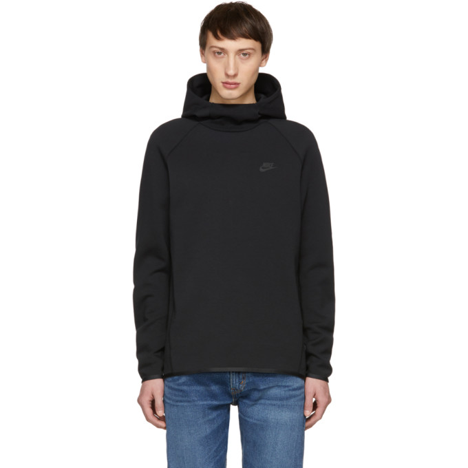 Nike Black Tech Fleece Hoodie In 010 Black  82c354a9295c