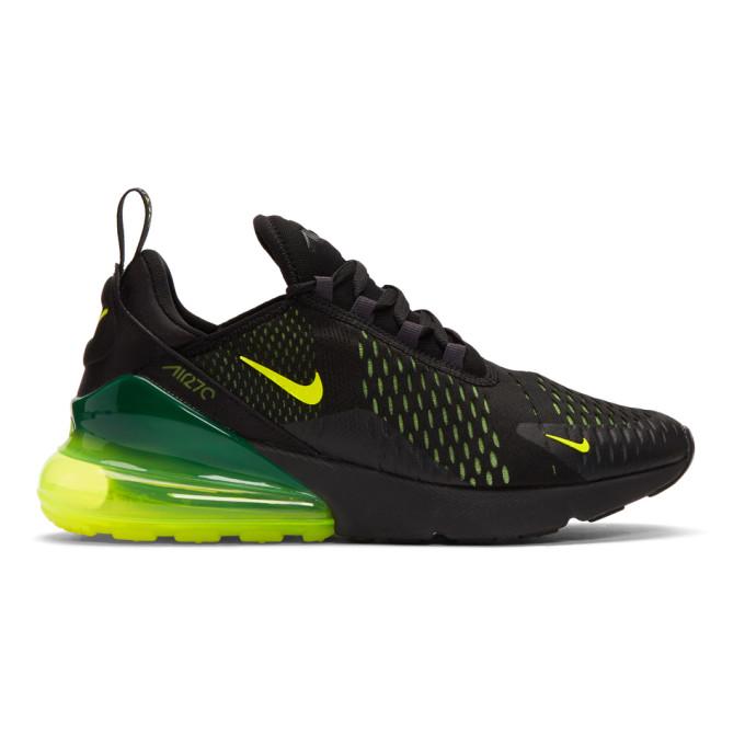 Nike Black & Green Air Max 270 Sneakers