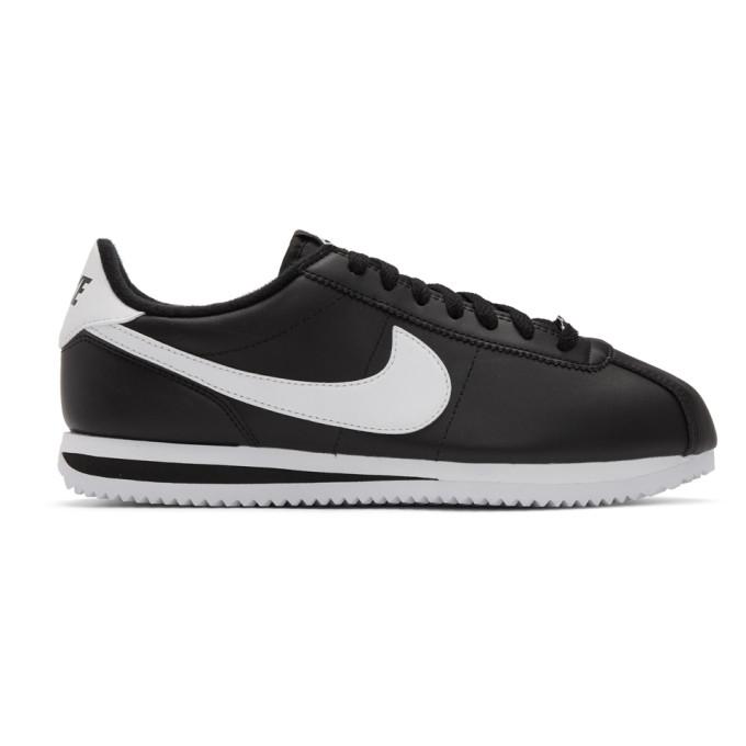 Nike Black Leather Basic Cortez Sneakers