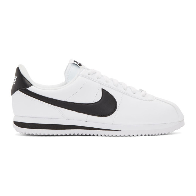 Nike ホワイト レザー ベーシック コルテッツ スニーカー