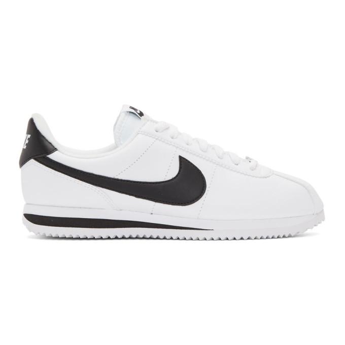 Nike White Leather Basic Cortez Sneakers