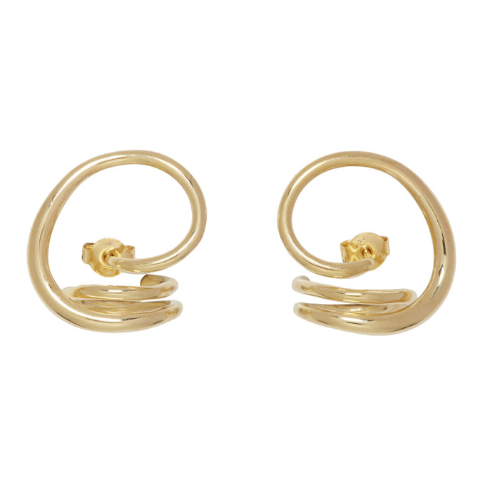 Image of Charlotte Chesnais Gold Round Trip Earrings