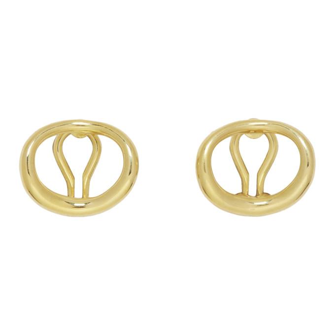 Image of Charlotte Chesnais Gold Naho Clip-On Earrings