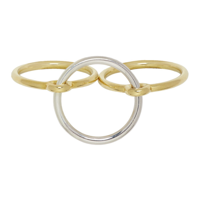 Image of Charlotte Chesnais Gold & Silver Three Lovers Ring Set