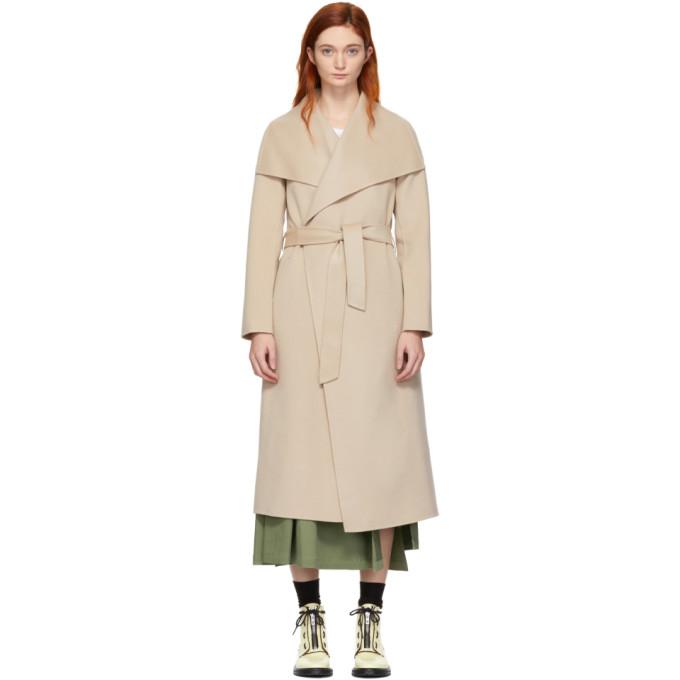 Mackage Manteau en laine brun clair Mai Wrap