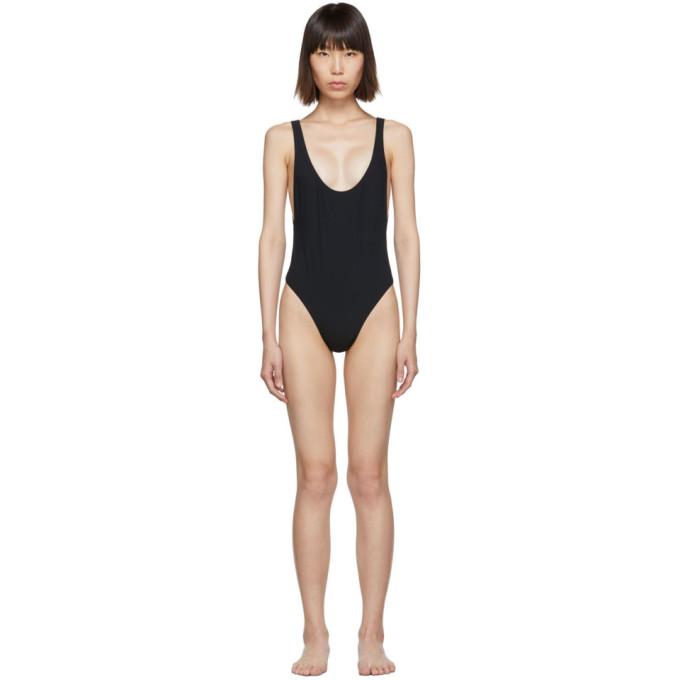 Kiki de Montparnasse Maillot de bain une piece a dos ouvert noir