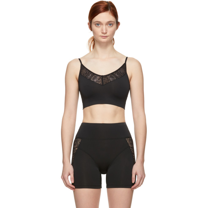 Kiki De Montparnasse KIKI DE MONTPARNASSE BLACK LACE AND JERSEY BRALETTE