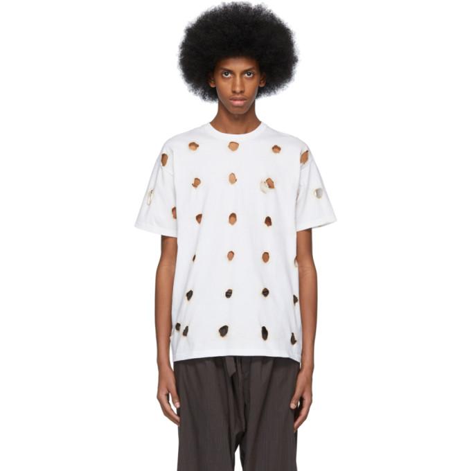 Ottolinger T-shirt blanc Burned Holes