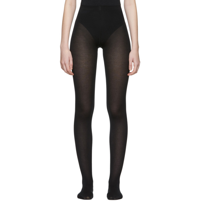 Image of Wolford Black Mat Opaque 80 Tights