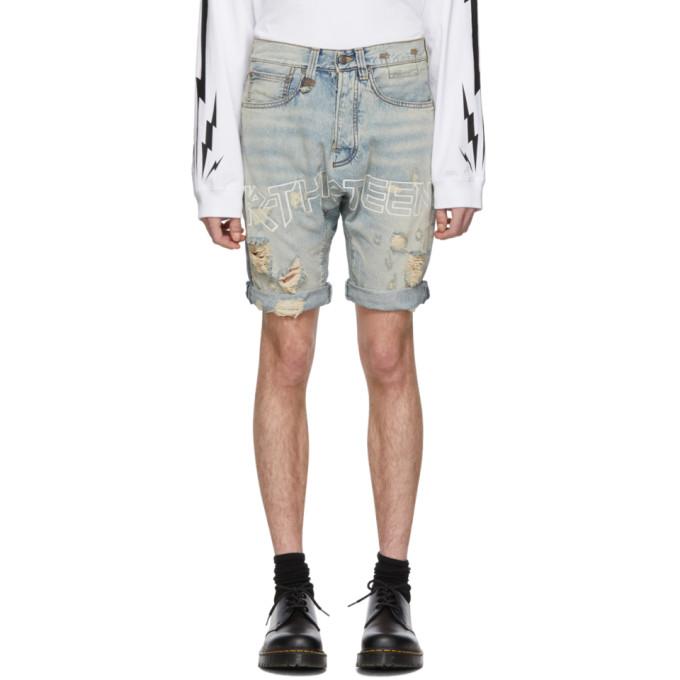 R13 Shorts R13 BLUE DENIM IAN SHORTS