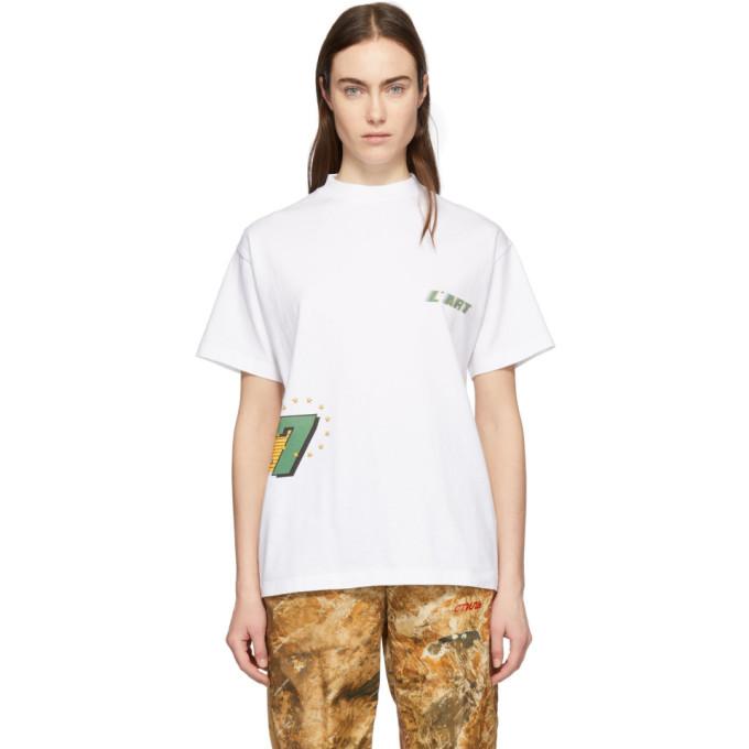 Image of KAR / L'Art de L'Automobile White GT Graphic T-Shirt
