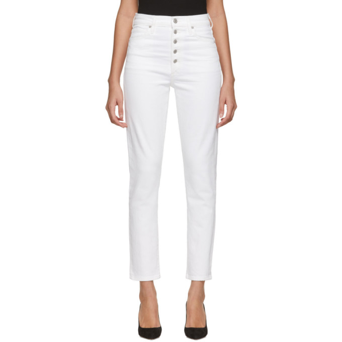 Citizens Of Humanity Jeans CITIZENS OF HUMANITY WHITE OLIVIA EXPOSED FLY JEANS
