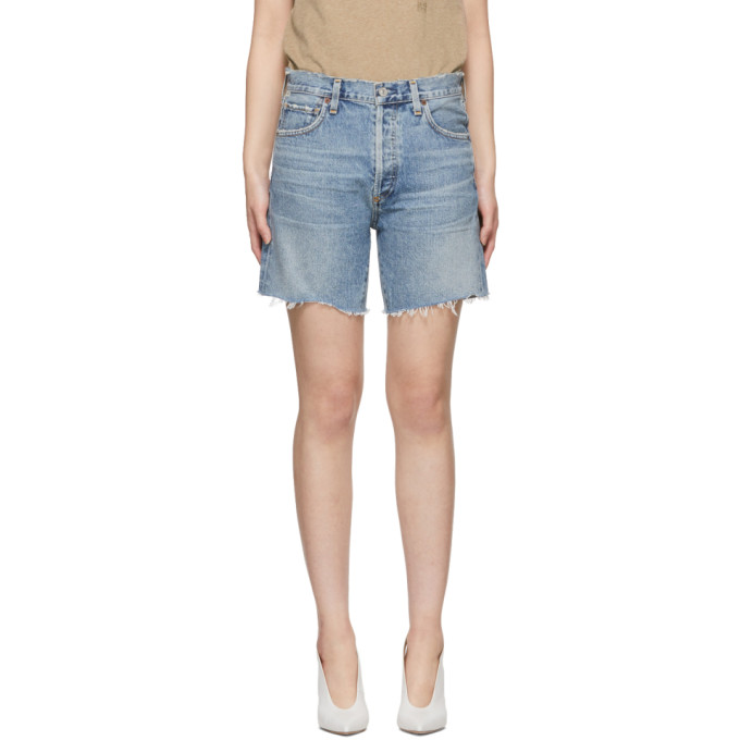 Image of Citizens of Humanity Blue Bailey Shorts