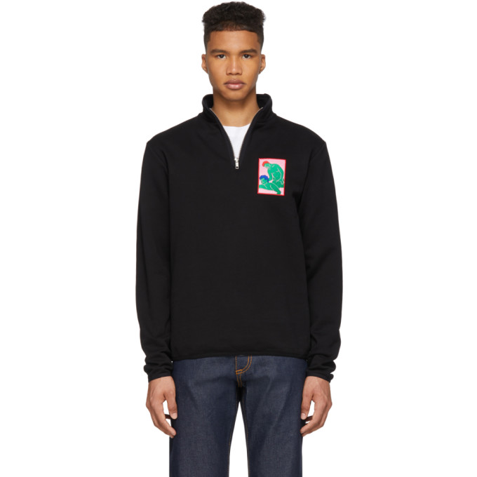 Image of Carne Bollente Black You've Got Maled Half-Zip Pullover