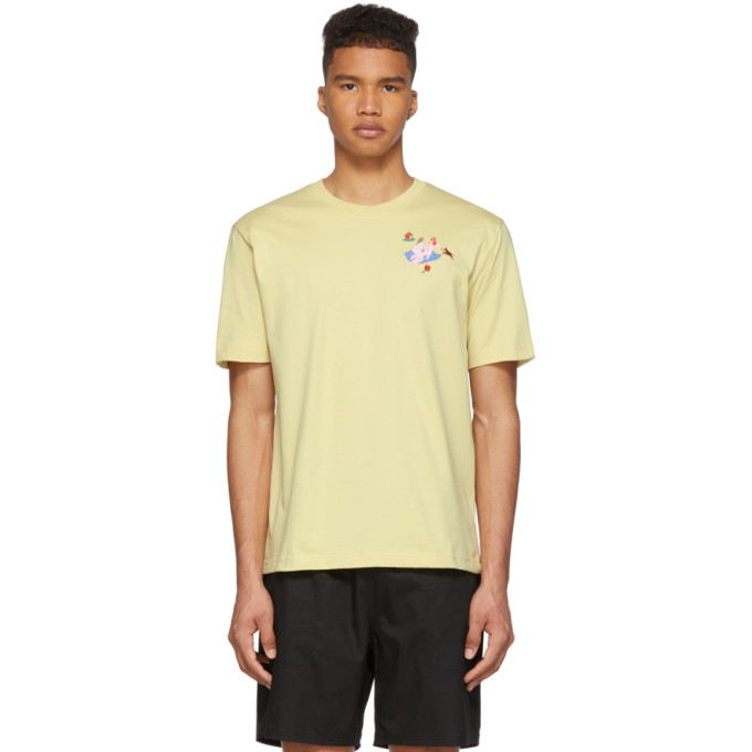Carne Bollente T-shirt jaune My Bare Ladies